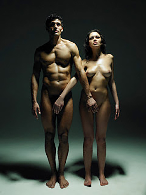 Naked Couple Standing Side by Side --- Image by © Hans Neleman/zefa/Corbis